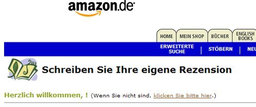 Amazon.de-Rezensions-Formular