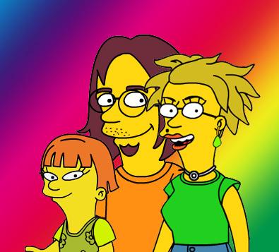 Familienbild a la Simpsons