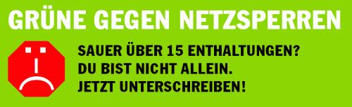 Grüne gegen Netzsperren