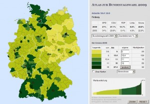 "Screenshot ""Atlas zur Bundestagswahl 2009"""