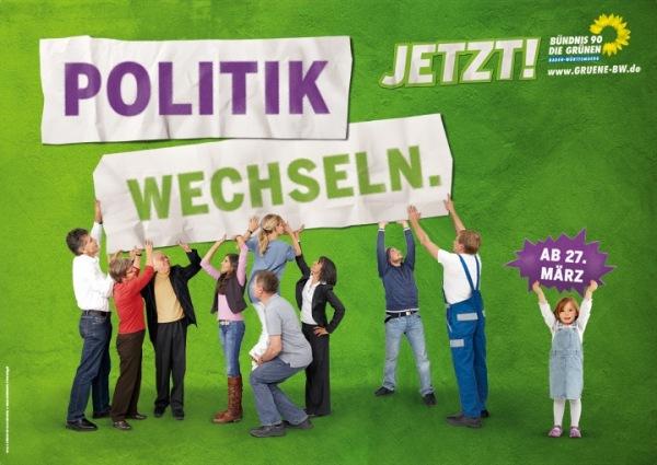 """Plakat """"Politik wechseln. Jetzt!"""""""