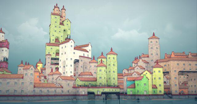 Screenshot Townscaper